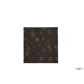 Airlaid napkins, 40x40 cm, Stars, brown, 20x50 pcs./carton