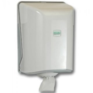 Towel roll dispenser,centerpull, white, ABS,  31x21x22 cm