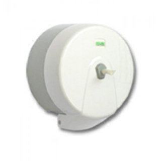Jumbo rolls-dispenser, centerpull, white, ABS, for rolls up to 14 cm diameter