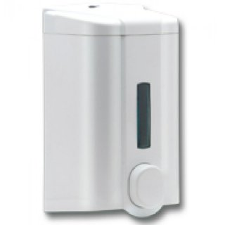 Soap dispenser 1000 ml, whiteeiß,  ABS, refillable  19,5x10,5 cm