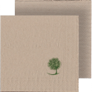 Embossed napkins, 1-ply, 1/4 fold, cellulose white,...