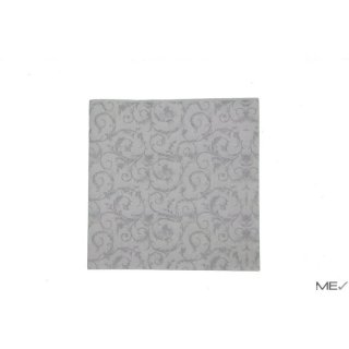 Airlaid napkins, 40x40 cm, Abstract, white silver, 20x50 pcs./carton