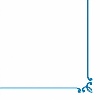 Airlaid napkins, 40x40 cm, Border napkin, blue, 16x50 pcs./carton